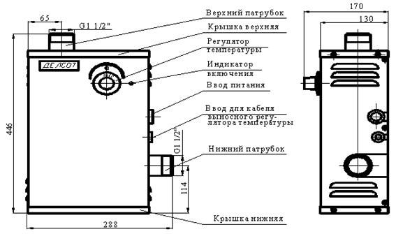 Схема электрических котлов