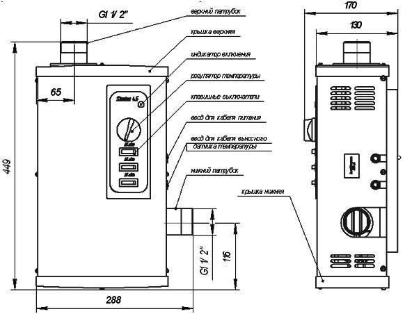 Электрические котлы отопления ЭВП-6м; 9м; 12м; 15.